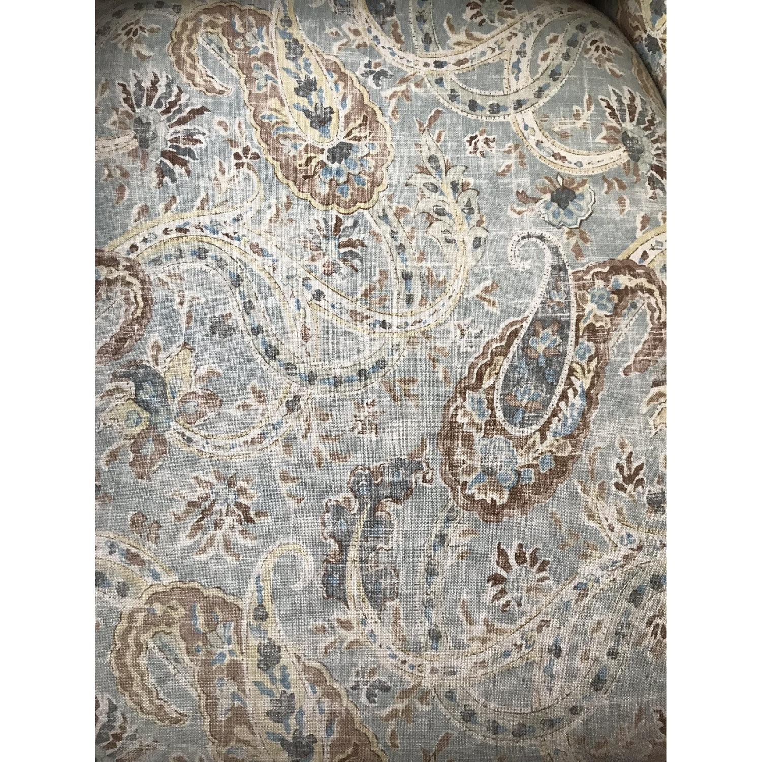 Paisley Print Fabric Accent Chair-2
