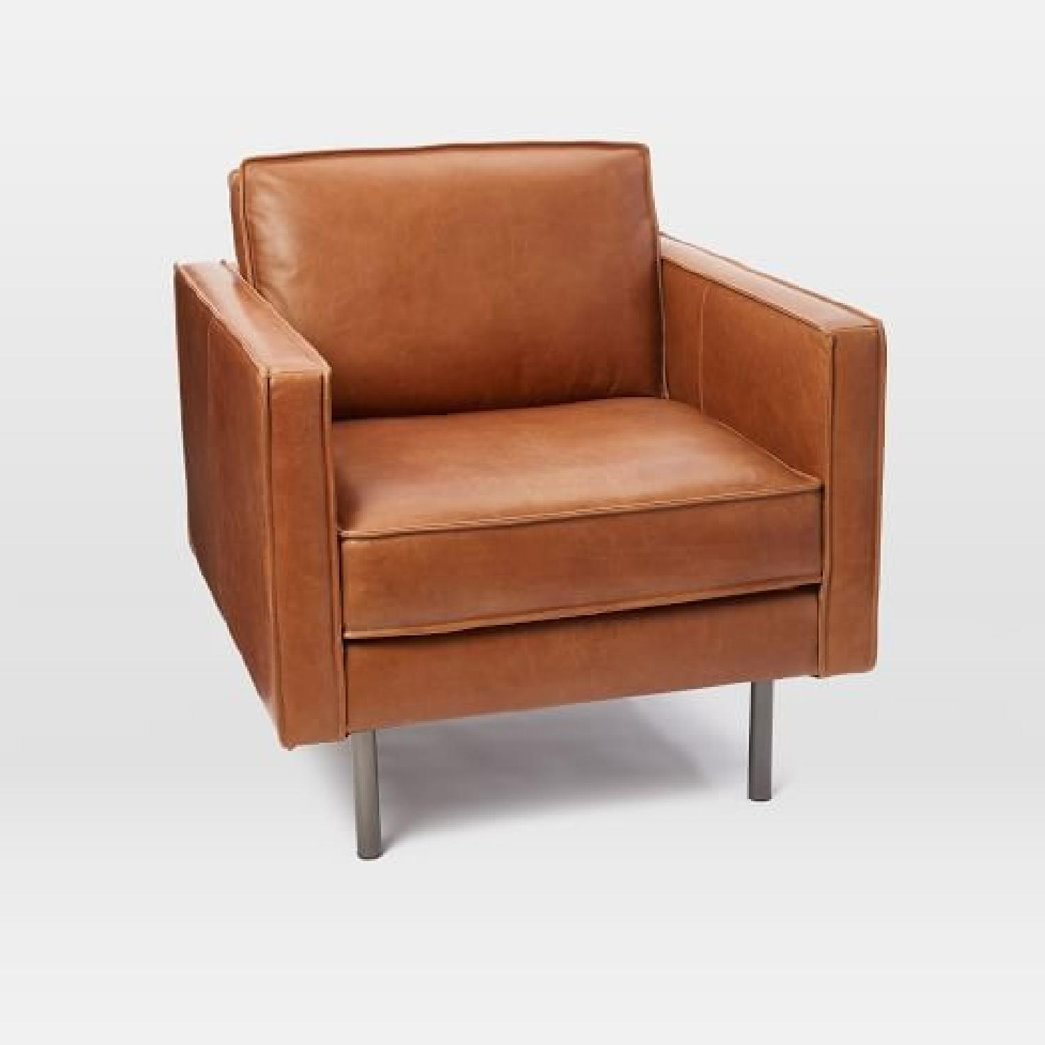 West Elm Axel Leather Chair-0