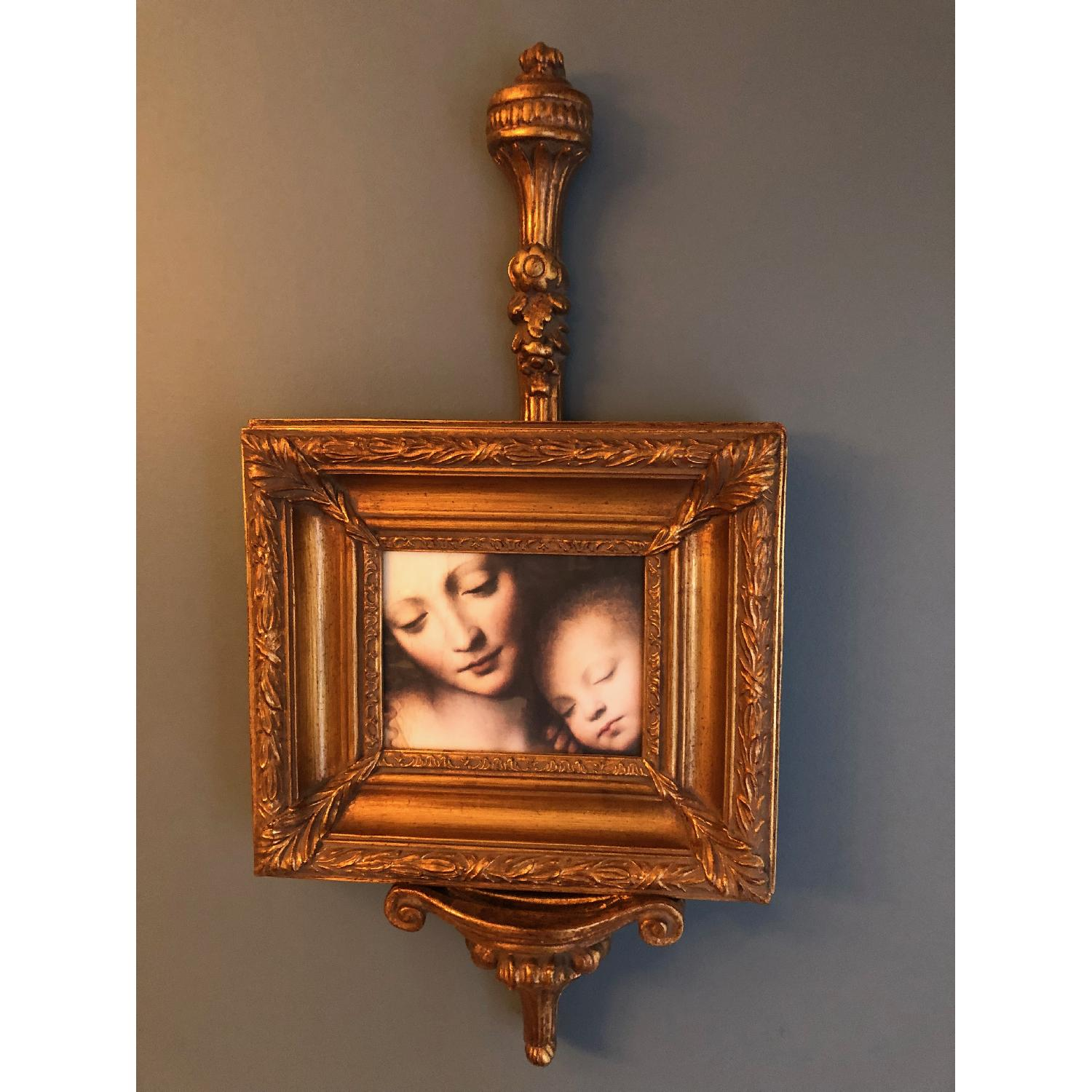 Bombay Company Mother w/ Baby Print Framed w/ Holder-0