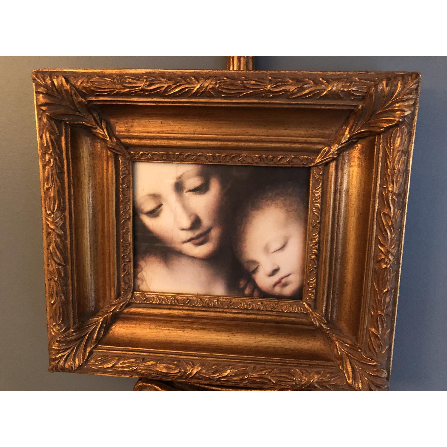 Bombay Company Mother w/ Baby Print Framed w/ Holder-1