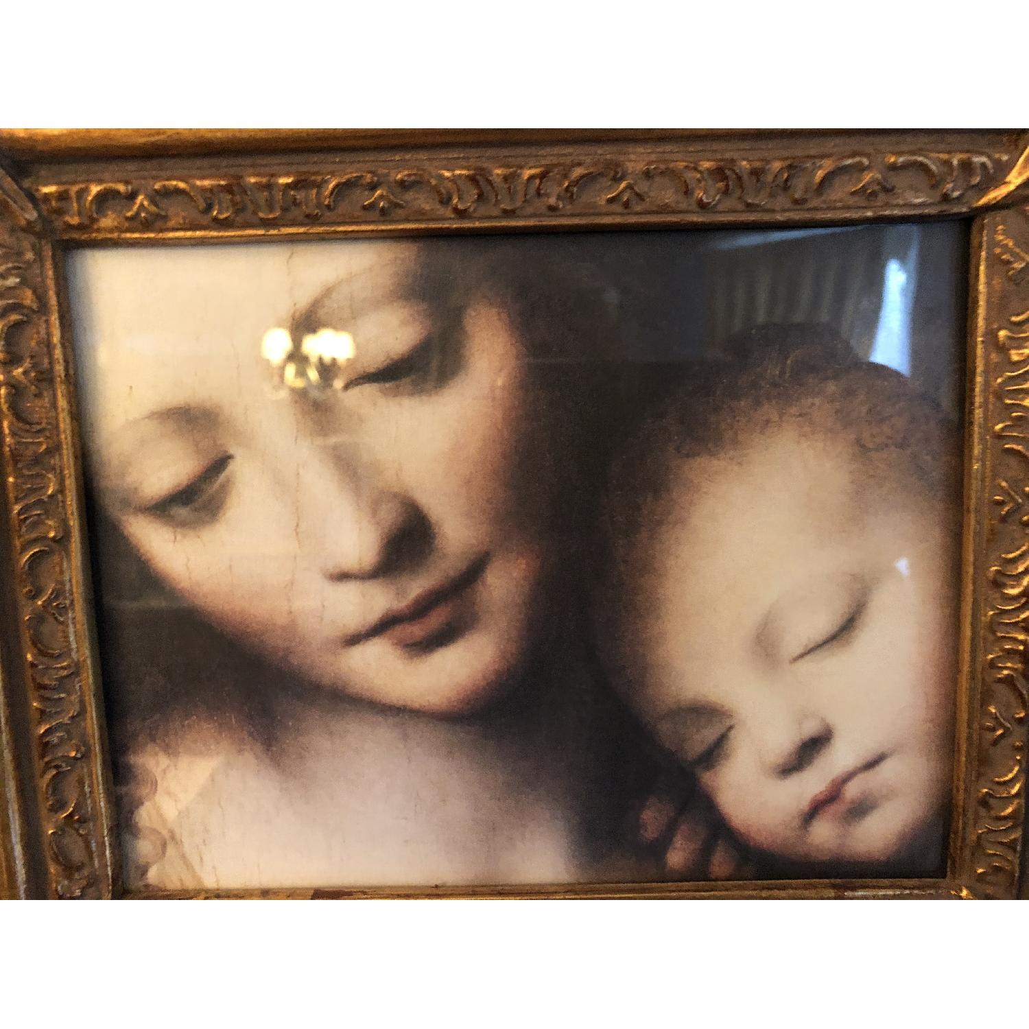 Bombay Company Mother w/ Baby Print Framed w/ Holder-2