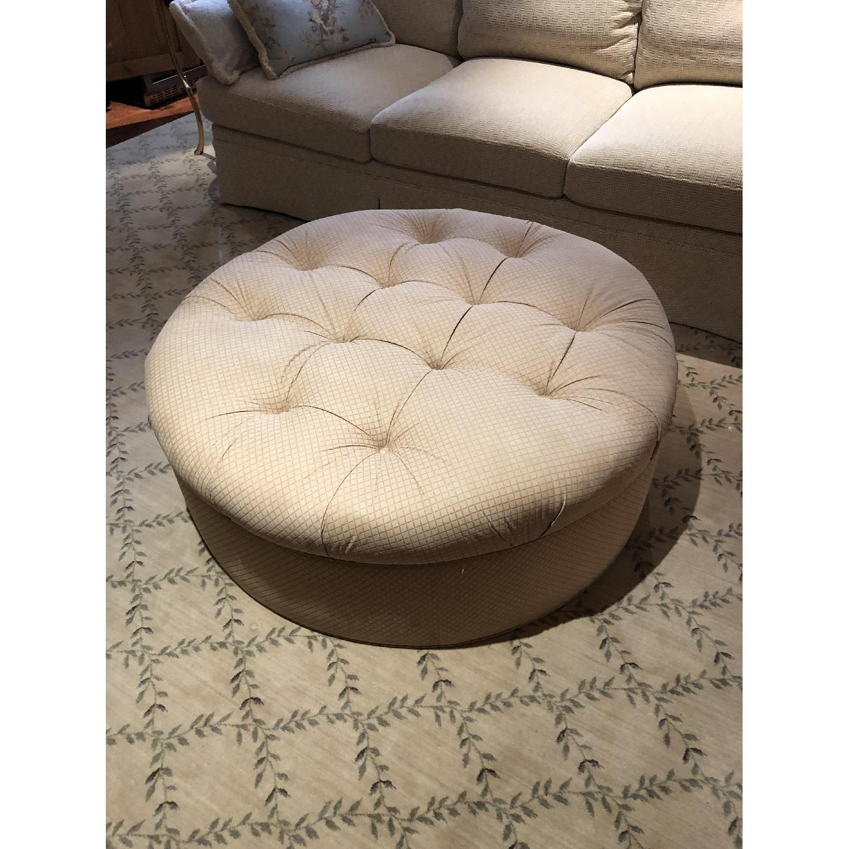 Custom Fabric Large Ottoman-1