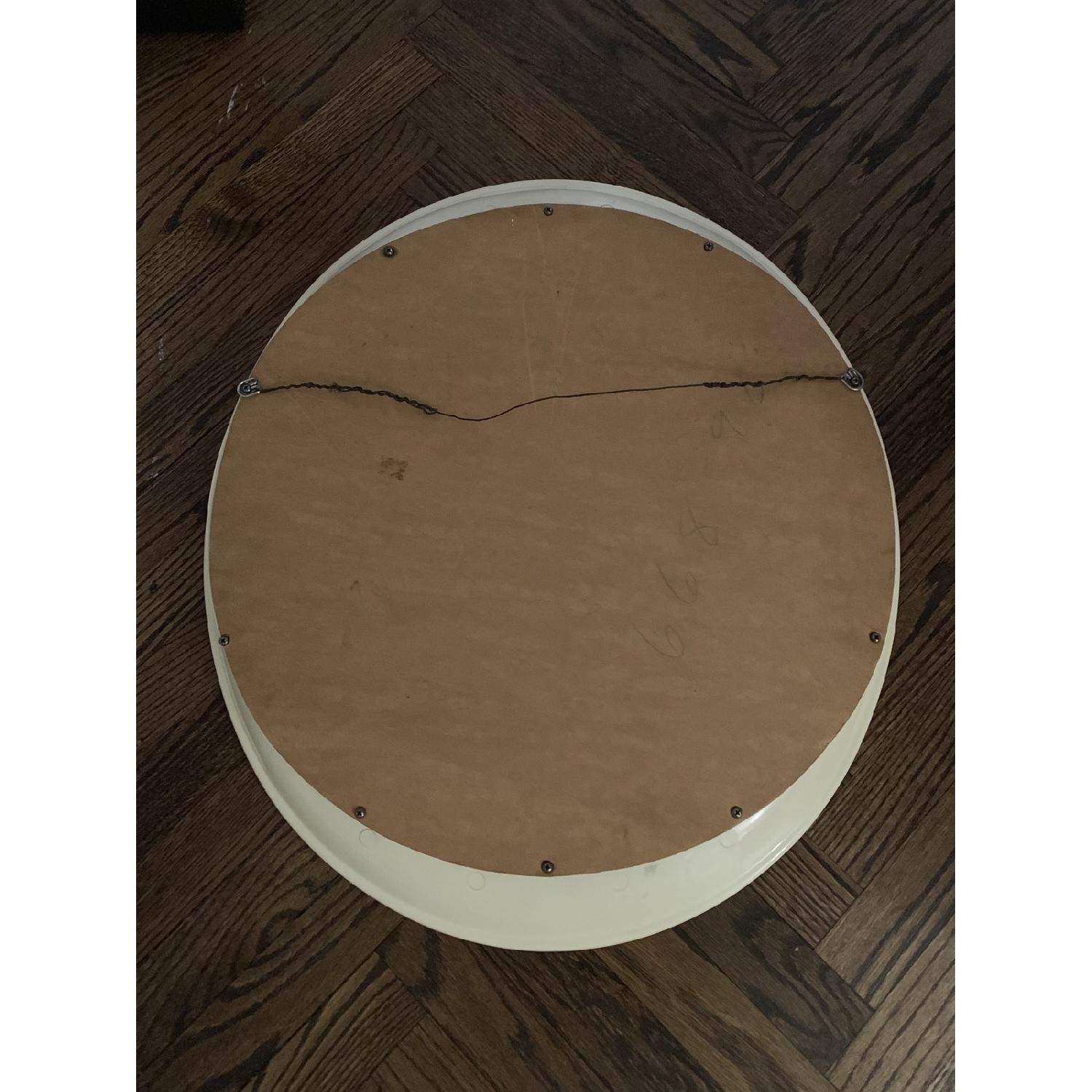 Antique Beige Framed Oval Mirror-2