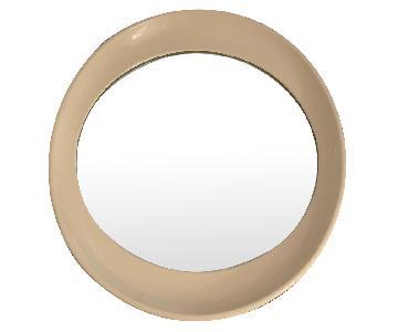 Antique Beige Framed Oval Mirror