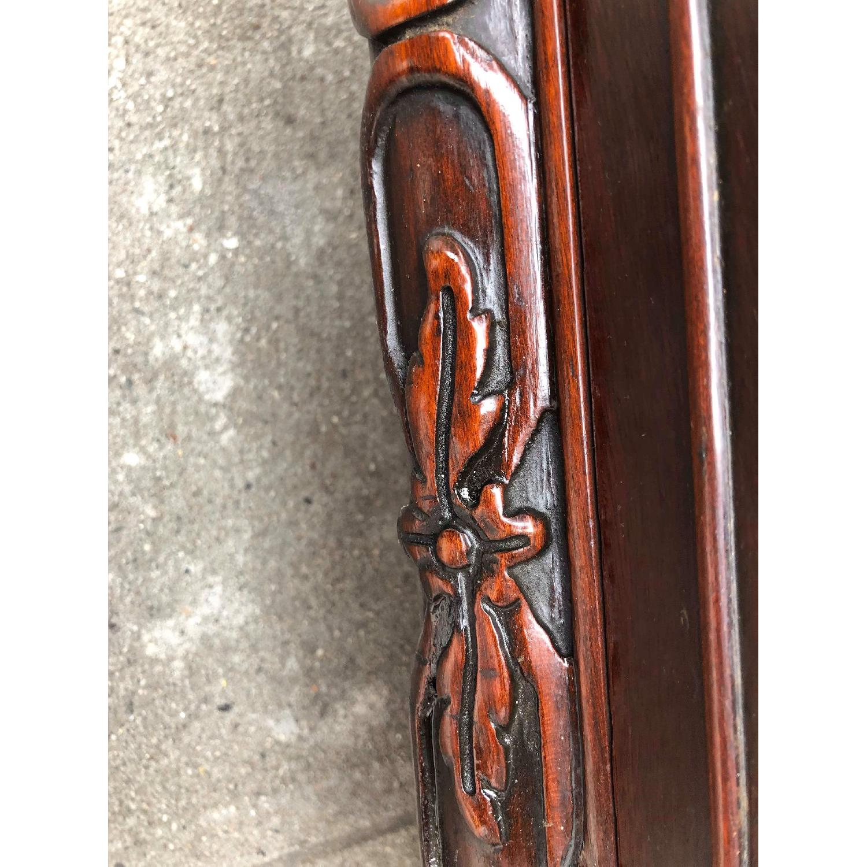 Antique 1930s Cherry Wood Oriental Style Dresser-1