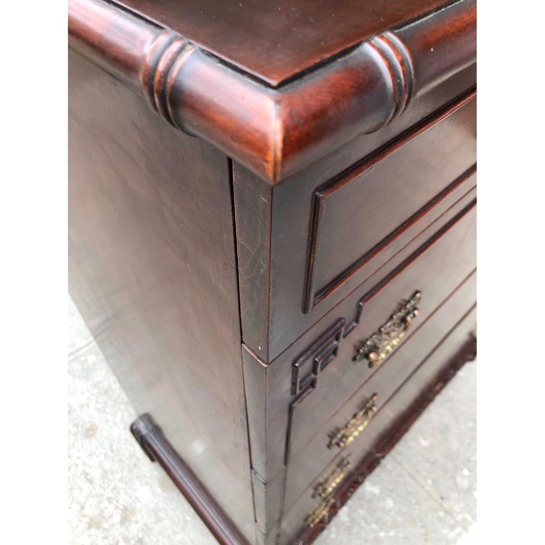 Antique 1930s Cherry Wood Oriental Style Dresser-2
