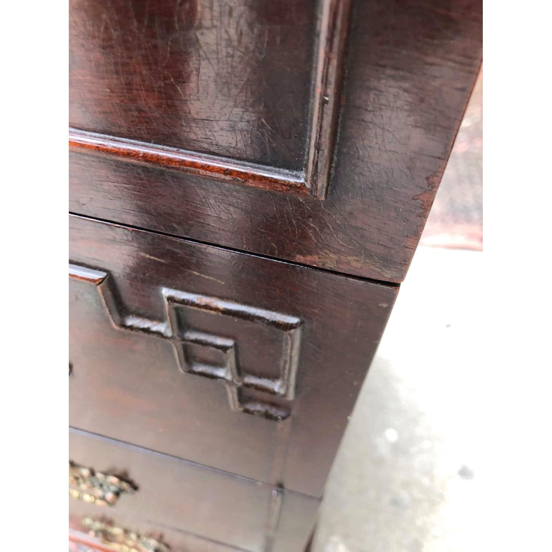 Antique 1930s Cherry Wood Oriental Style Dresser-3