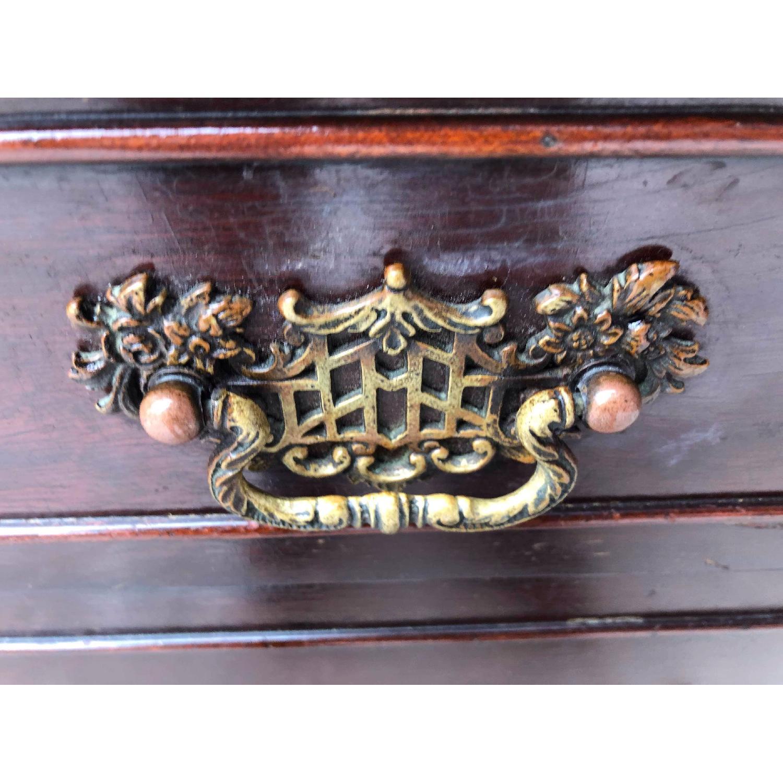 Antique 1930s Cherry Wood Oriental Style Dresser-6