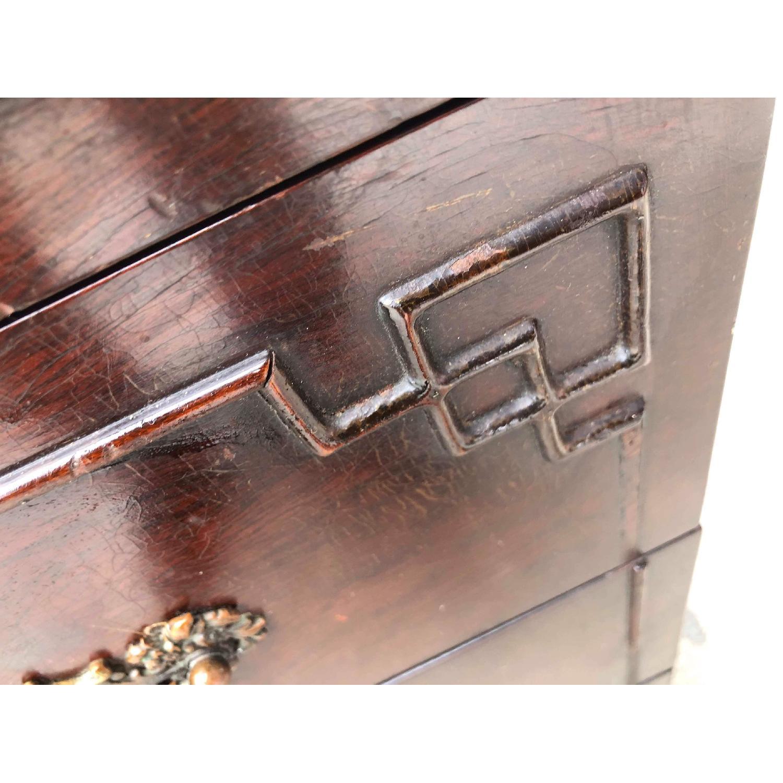 Antique 1930s Cherry Wood Oriental Style Dresser-9