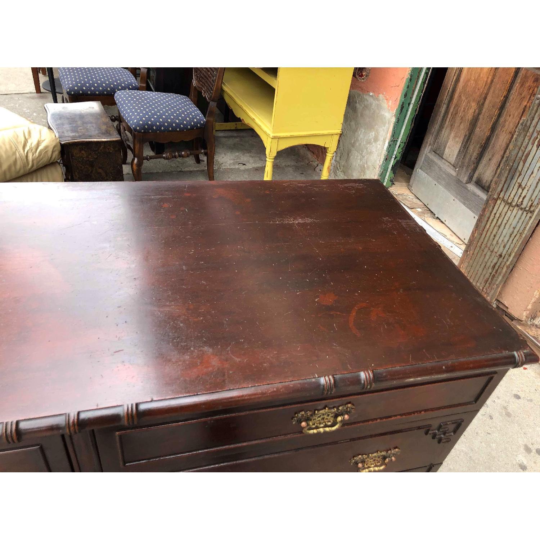 Antique 1930s Cherry Wood Oriental Style Dresser-11