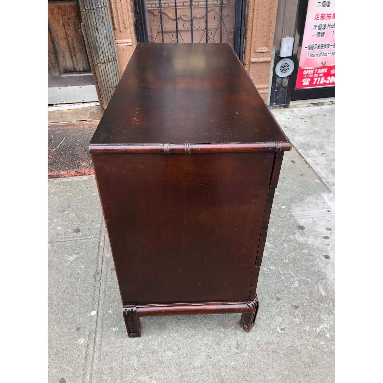 Antique 1930s Cherry Wood Oriental Style Dresser-12