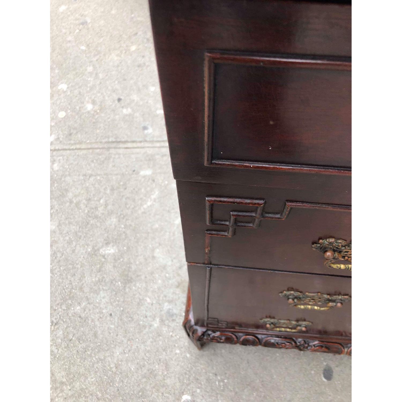 Antique 1930s Cherry Wood Oriental Style Dresser-16