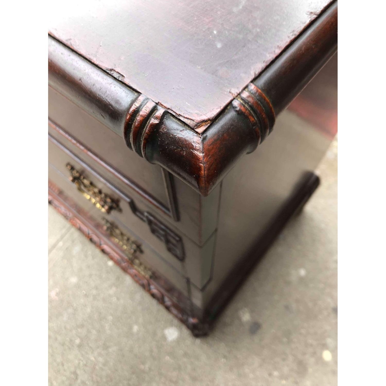Antique 1930s Cherry Wood Oriental Style Dresser-17