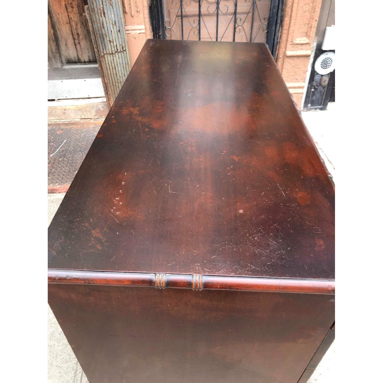 Antique 1930s Cherry Wood Oriental Style Dresser-20