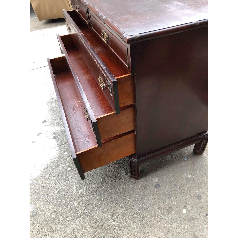 Antique 1930s Cherry Wood Oriental Style Dresser-22
