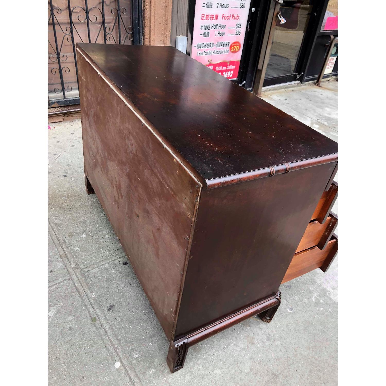 Antique 1930s Cherry Wood Oriental Style Dresser-24