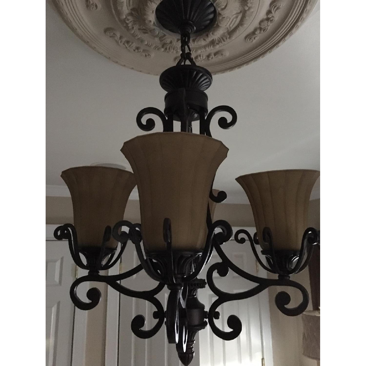 Rustic Themed 4 Light Candelabra Chandelier-2