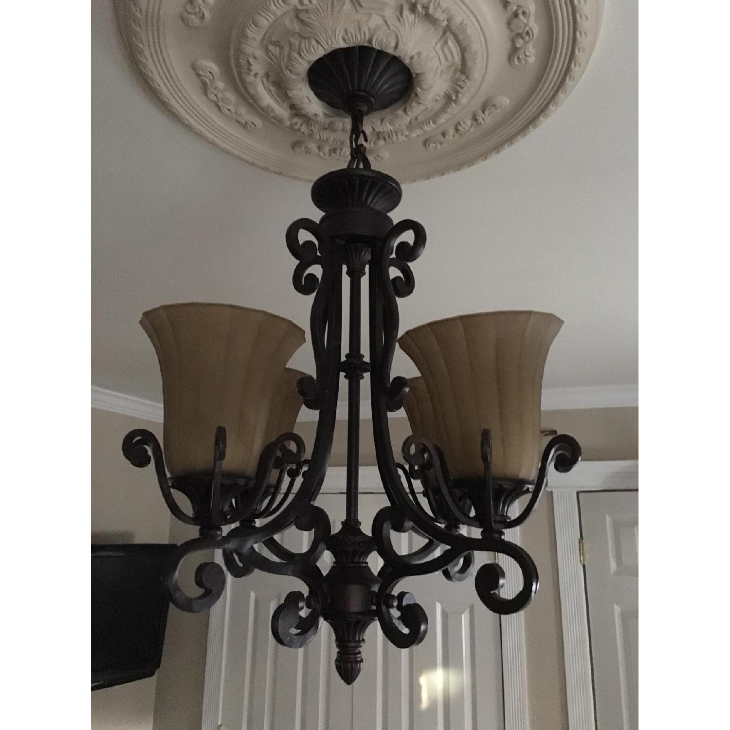 Rustic Themed 4 Light Candelabra Chandelier-3