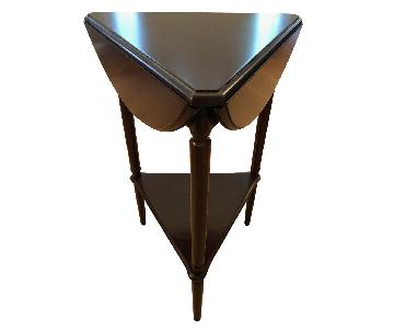 Bombay Co. Drop-Leaf Round Side Table