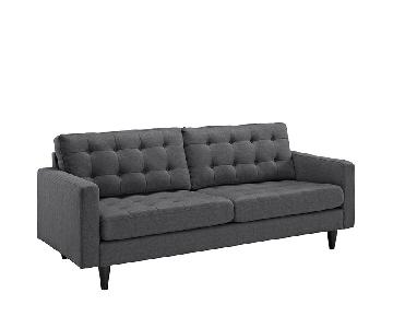Manhattan Home Design Upholstered Fabric Sofa