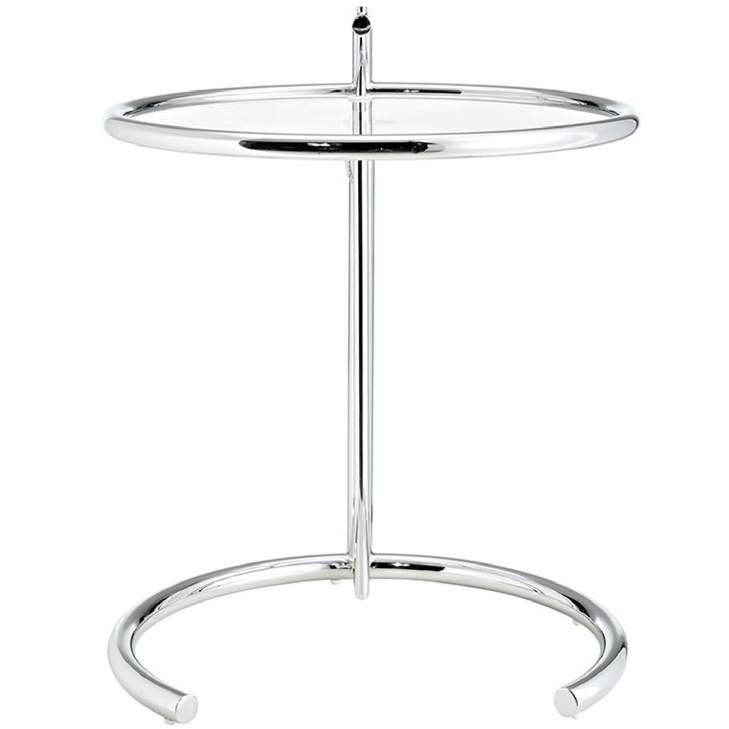 Manhattan Home Design Gray SIde Table in Silver-0