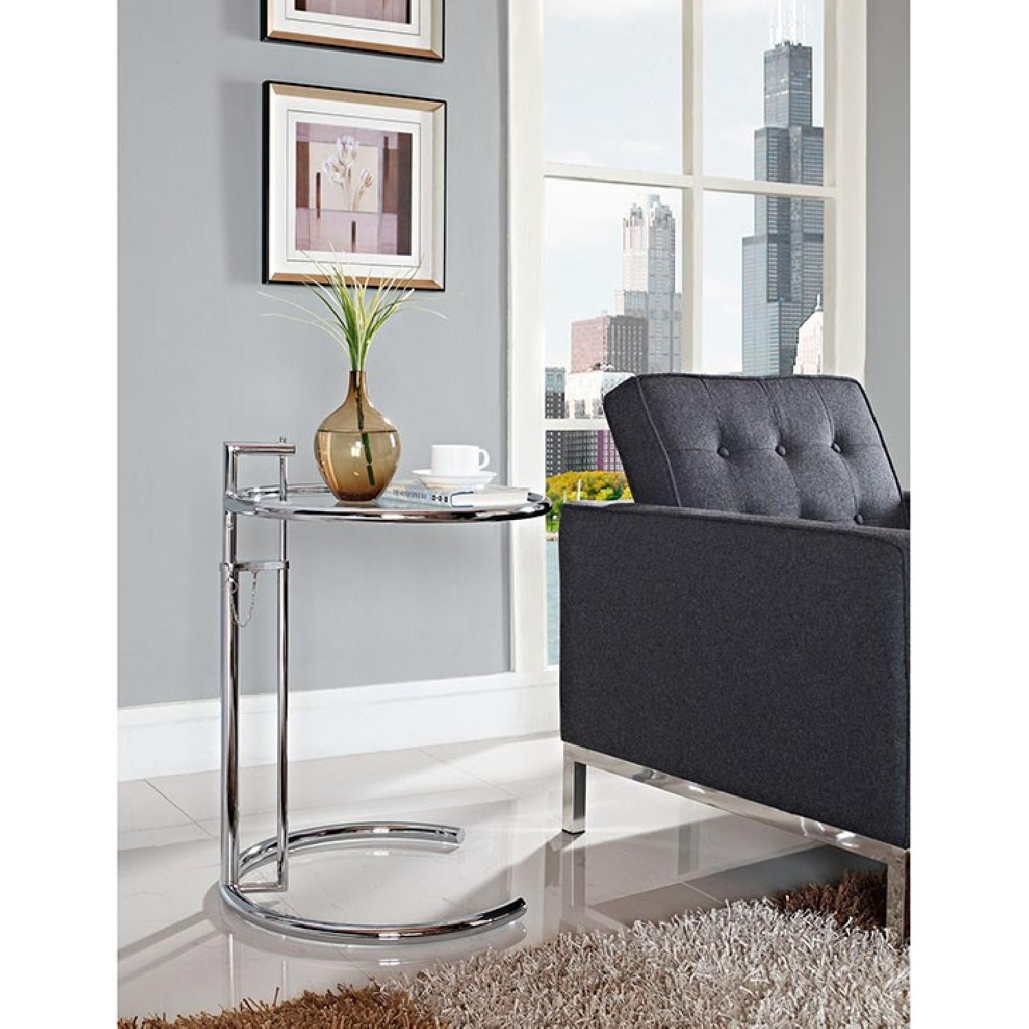 Manhattan Home Design Gray SIde Table in Silver-1