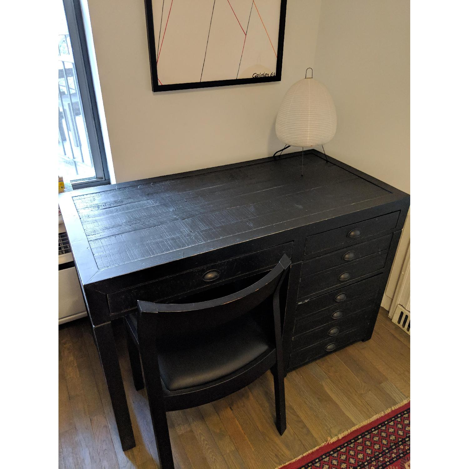 Restoration Hardware Printmaker's Wooden Desk-0