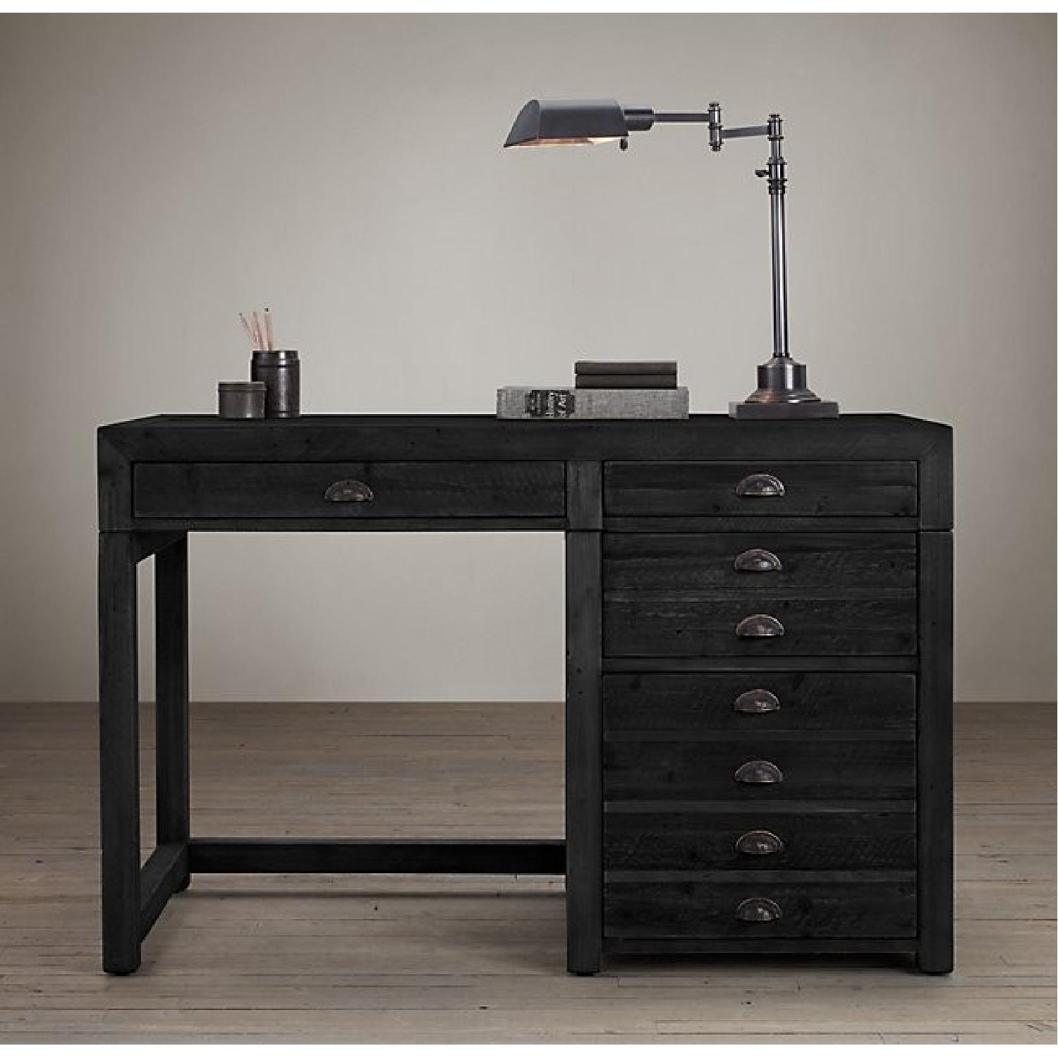 Restoration Hardware Printmaker's Wooden Desk-5