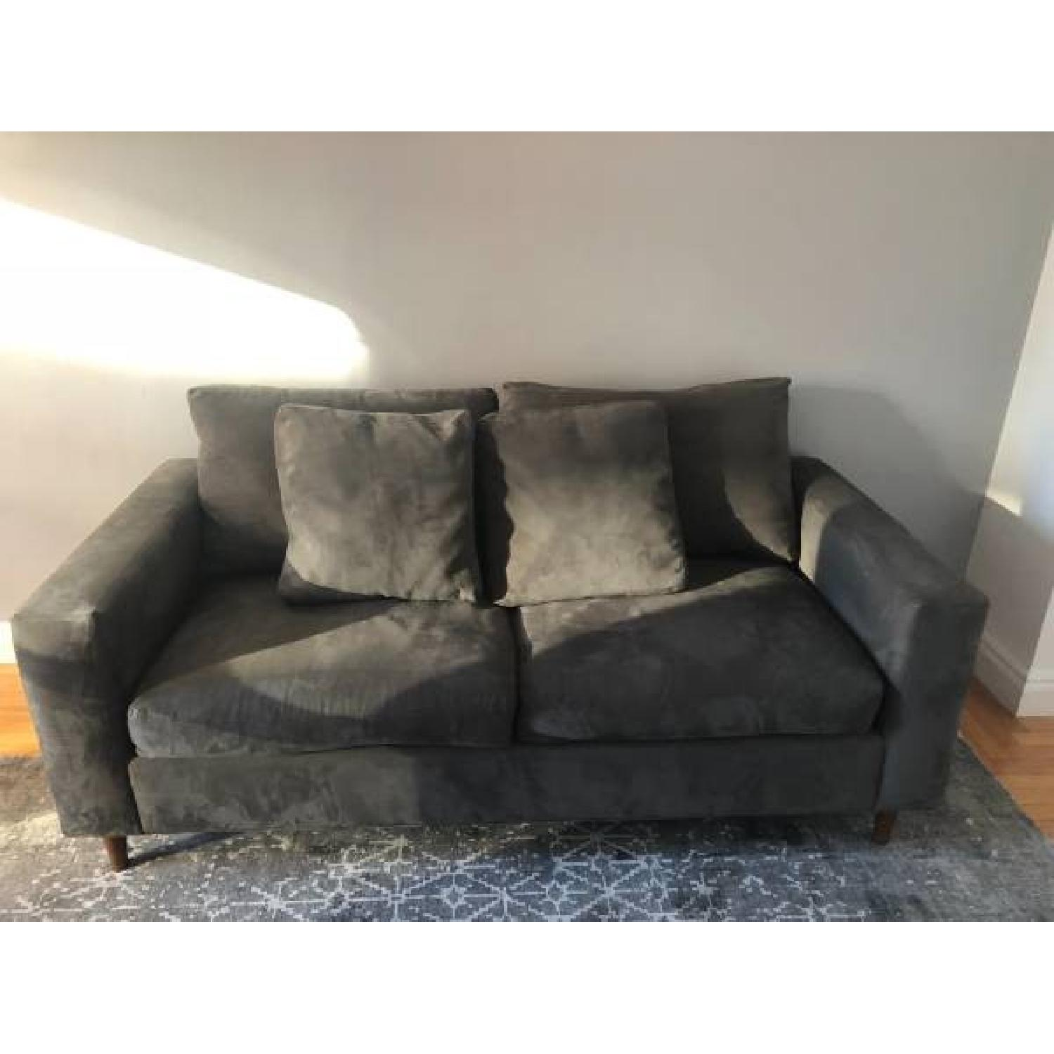 Dark Grey Two Seater Sofa-0