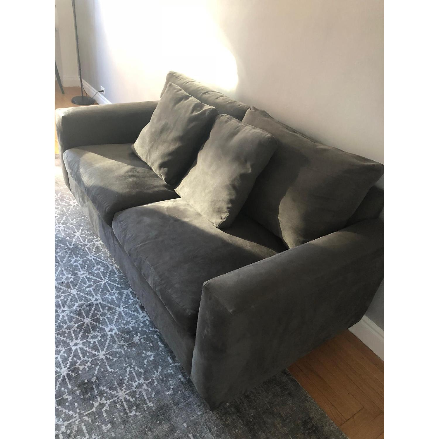 Dark Grey Two Seater Sofa-1