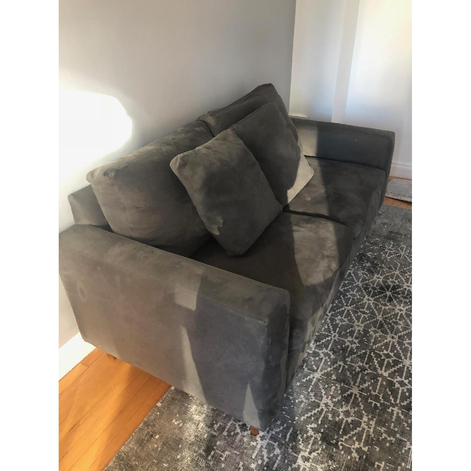 Dark Grey Two Seater Sofa-2