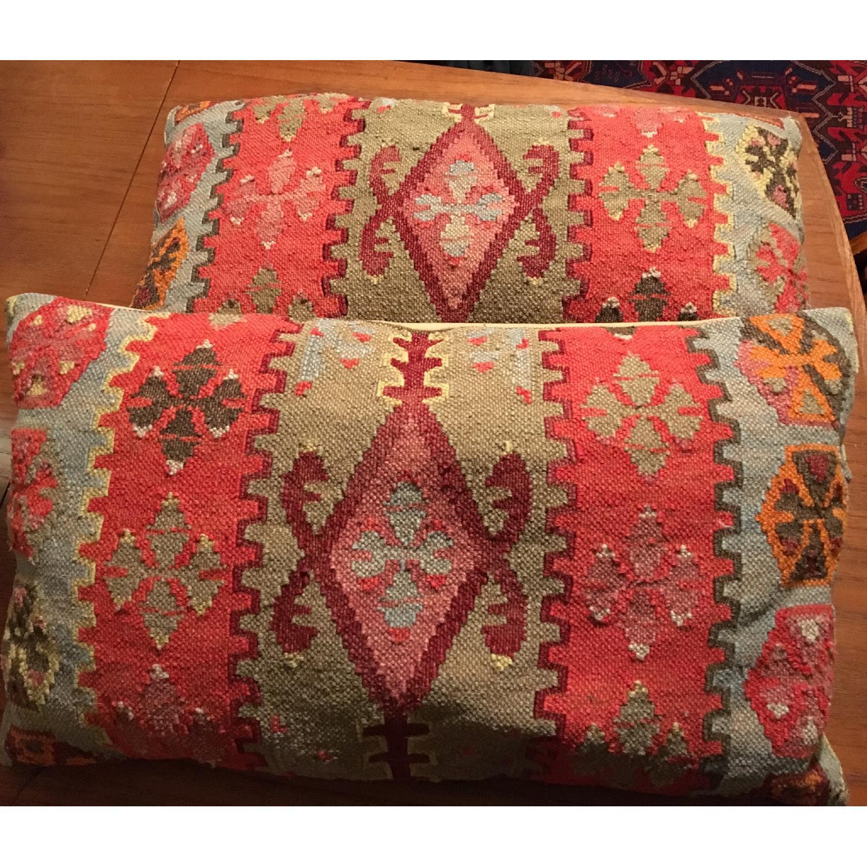 Pottery Barn Lumbar Kilim Pillows-0