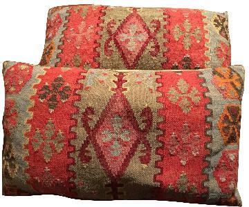 Pottery Barn Lumbar Kilim Pillows