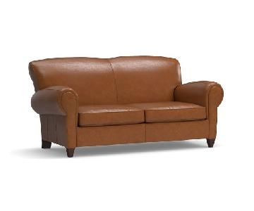 Pottery Barn Leather 2 Seater Sofa
