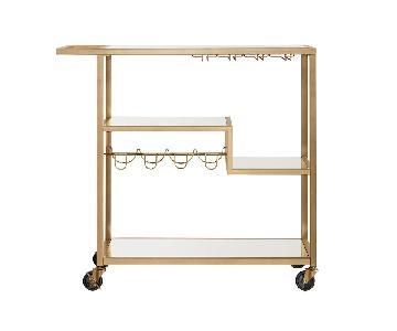 HomeSullivan Champagne Gold Bar Cart