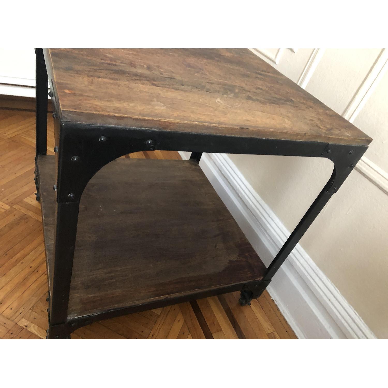 Anthropologie Decker End Table on Wheels-2