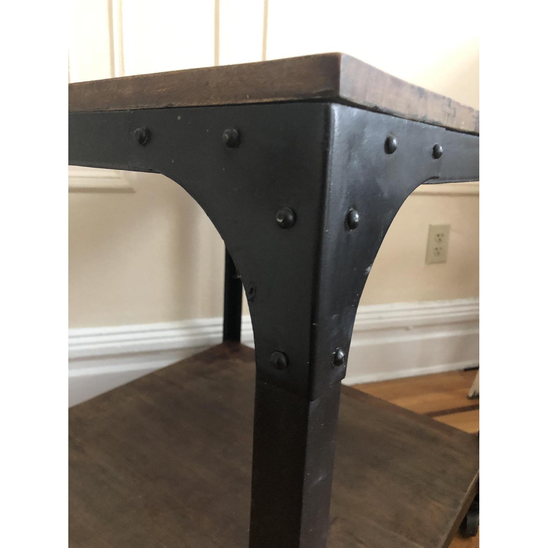 Anthropologie Decker End Table on Wheels-7