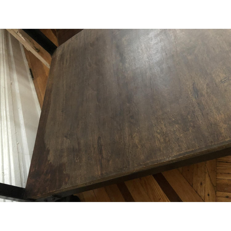Anthropologie Decker End Table on Wheels-10