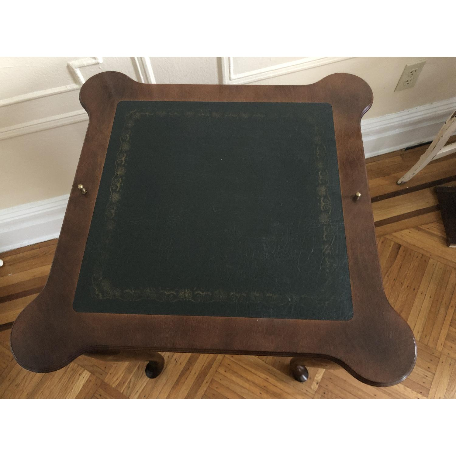 Georgian Style Leather Top Game Table-0