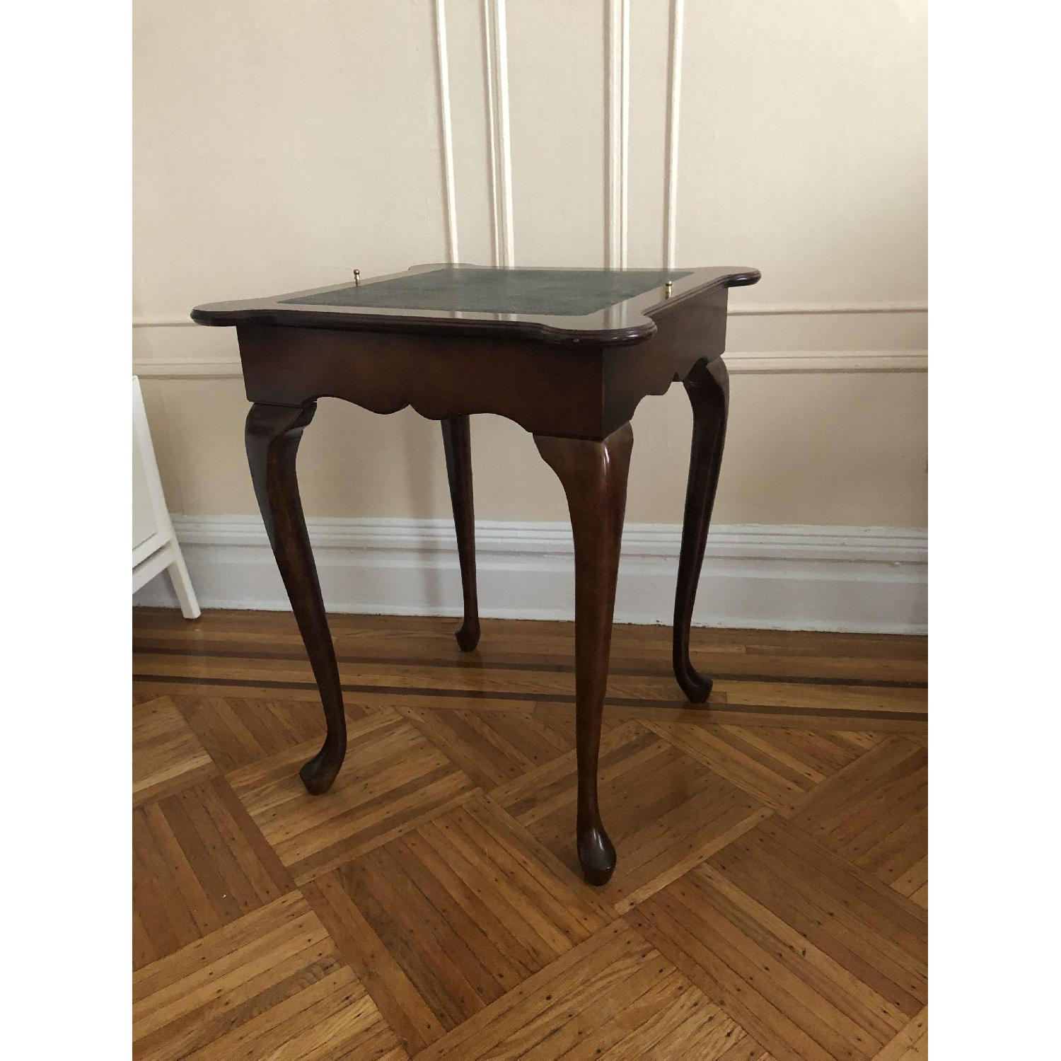 Georgian Style Leather Top Game Table-1