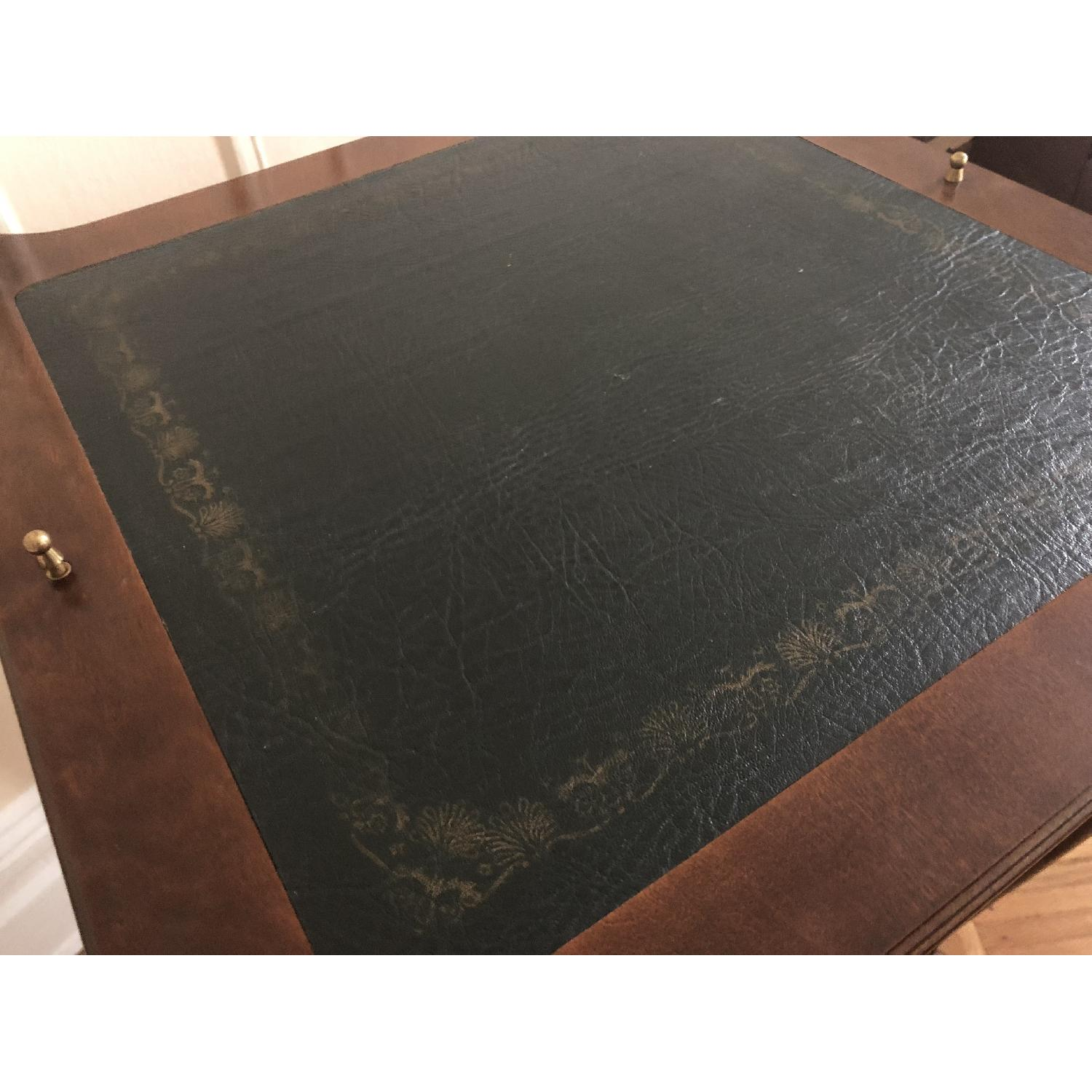 Georgian Style Leather Top Game Table-5