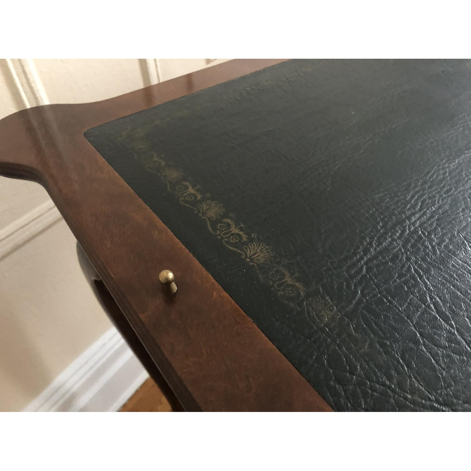 Georgian Style Leather Top Game Table-6