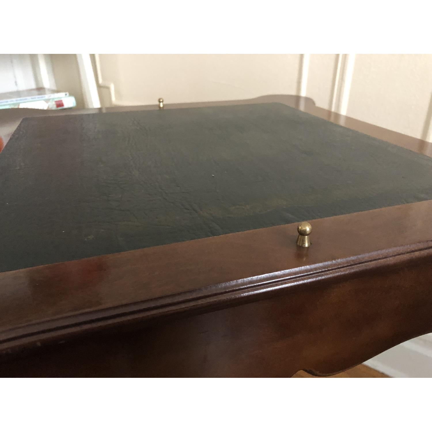 Georgian Style Leather Top Game Table-9
