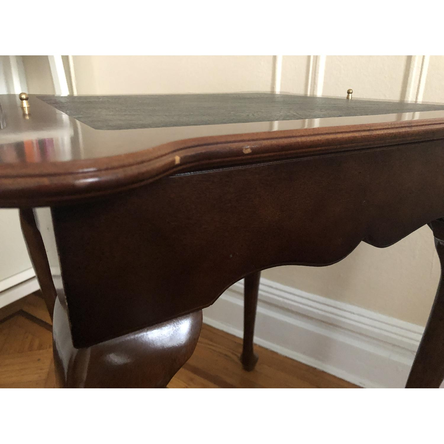 Georgian Style Leather Top Game Table-10