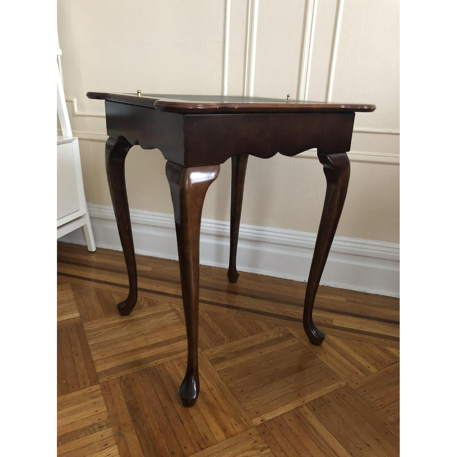 Georgian Style Leather Top Game Table-13