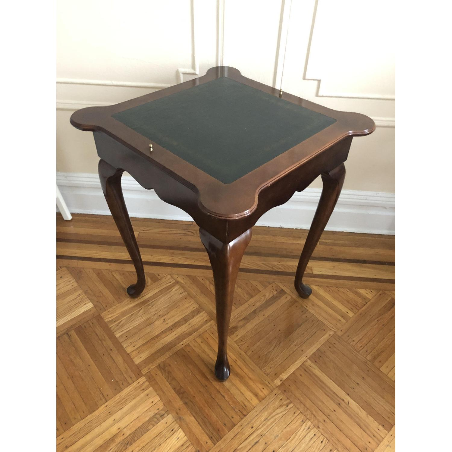 Georgian Style Leather Top Game Table-14