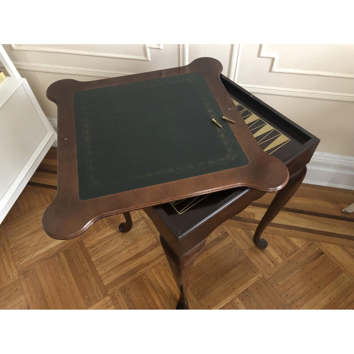 Georgian Style Leather Top Game Table-17