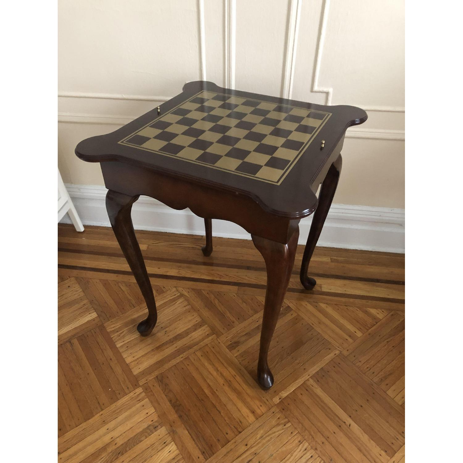 Georgian Style Leather Top Game Table-25