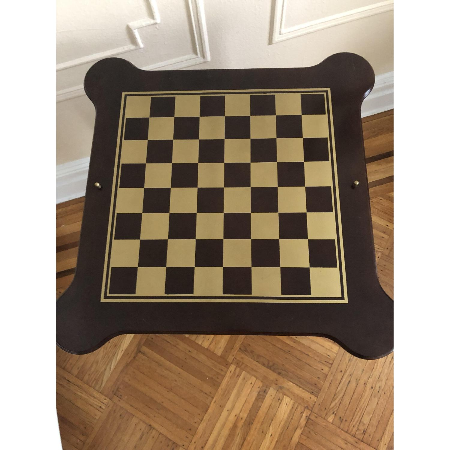 Georgian Style Leather Top Game Table-26