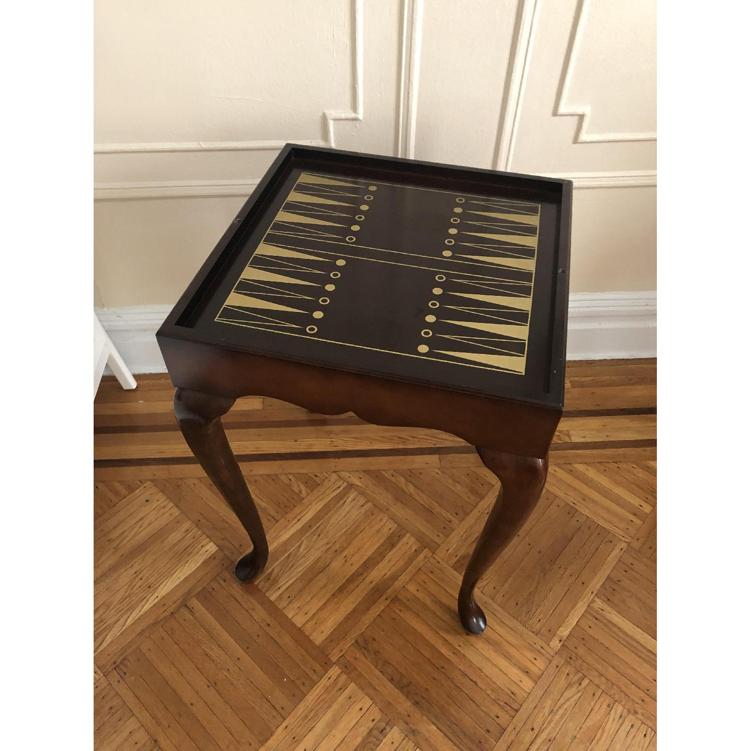 Georgian Style Leather Top Game Table-27